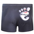 3D Footprint Style Shorts for Men - Black (Size XXXL)