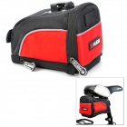 KuGai 13022 Scalable Bicycle Tail Bag - Black + Red