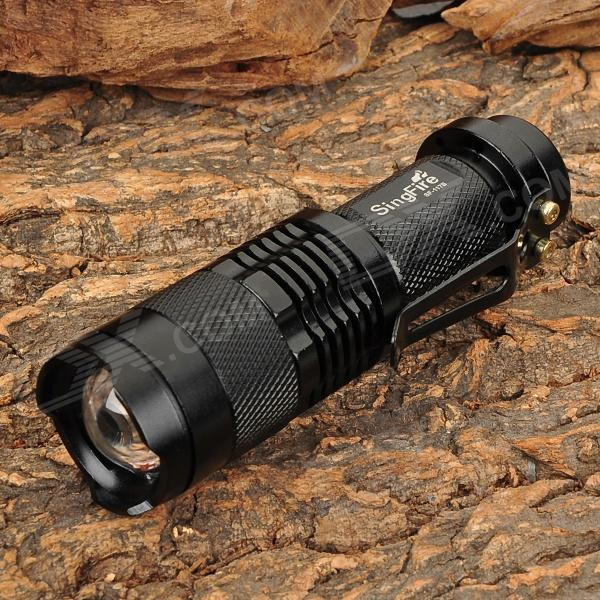SingFire SF-117B 700lm 3-Mode White Zooming Flashlight w/ CREE XM-L T6 - Black (1 x AA / 1 x 14500)