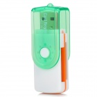 5-in-1 Universal USB2.0 480Mbps High Speed Memory Card Reader -Translucent Green + White