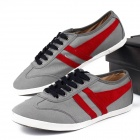 MODEST 3316 Outdoor Sports Canvas Shoes for Males - Grey + Red + Black (Size 42 / Pair)