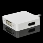 AP001 3 in 1 Mini Display Digi-Port DP Displayport HDMI-DVI-Adapter-Kabel - Weiß