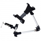 H47-1 360 Degree Rotation Holder Mount for Tablet / Ipad 2 / 3 / 4 - Black + Silver