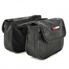 KuGai 12152 Polyester Mesh Bicycle Front Tube Bag w/ Rainproof Cover - Black (25~35L)