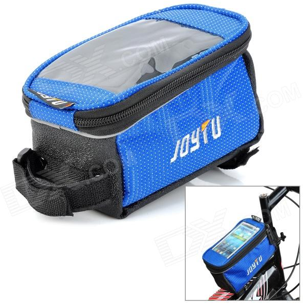 JOYTU Bicycle Front Tube Bag for Touch Screen Cell Phone / GPS - Blue + Black 2 mode 3 led red light fish gathering lamp 3 x lr44