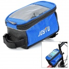 JOYTU Bicycle Front Tube Bag for Touch Screen Cell Phone / GPS - Blue + Black
