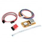 5-in-1 Mini PCI / Mini PCI-E / LPC / I2C / ELPC PC Laptop Diagnostic Post Test Card - Yellow + Red