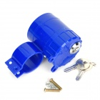 Anti-Theft Rainproof Alarm Lock for Bicycle Motorcycle - Blue