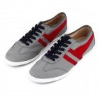 MODEST 3313 Outdoor Sports Canvas Shoes for Men - Grey + Red (Size 43 / Pair)