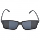 UV400 Protection Resin Lenses Rearview Mirror Sunglasses - Black