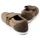 MODEST 3313 Outdoor Sports Canvas Shoes for Men - Brown + Army Green (Size 42 / Pair)