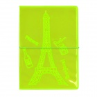 Eiffel Tower Style Passport Holder - Fluorescent Green