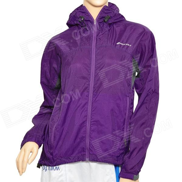 NUCKILY NY0923 Ultra-Thin Water-Proof Cycling Long Sleeve Windbreaker for Women - Purple (Size-S)