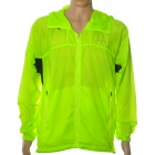 NUCKILY NY0923 Ultradünne Anti-UV Water Resistant Windproof Jacket Coat - Fluorescent Green (XXL)
