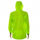 NUCKILY NY0923 Ultrathin Anti-UV Water Resistant Windproof Jacket Coat - Fluorescent Green (XXL)