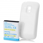 Replacement 3.7V 3800mAh Battery Pack + Back Case for Samsung i8190 Galaxy S3 Mini - White