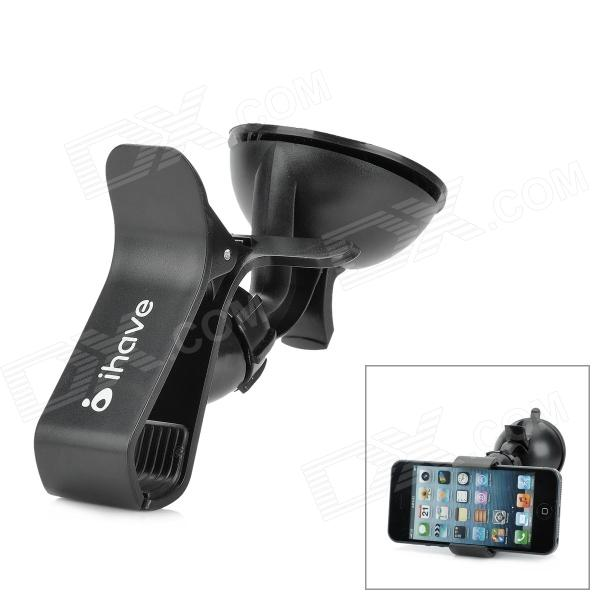 ihave Car Windshield Swivel Clip-On Mount Holder Stand for Iphone / HTC / Samsung / LG - Black aluminum alloy clip on flexible neck stand mount holder for iphone 5 more black