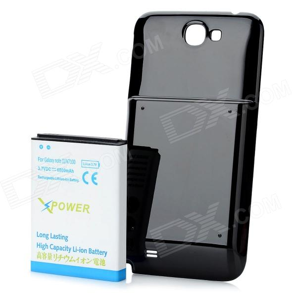 Replacement Back Cover + 6800mAh Li-ion Battery for Samsung Galaxy Note 2 N7100 - Black + White replacement back camera circle lens for samsung galaxy s5 g900 black