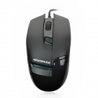 NEWMAN 3600 Wired USB 800/1200 / 1600dpi Optical Mouse - Schwarz (160cm)