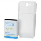 Replacement Back Case Cover + 3.7V 6800mAh Li-ion Battery for Samsung Galaxy Note 2 N7100 - White