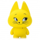 Cute Smile Cat Shape USB Speaker w/ 3.5mm Audio Male to Male Cable - Yellow