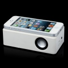 Interacción Mini Wireless Amplificador altavoz para Iphone / Samsung + Más - blanco (3 x AA)