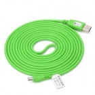 USB 2.0 Male to Lengthening Micro USB Male Data Sync / Charging Cable - Green (300cm)