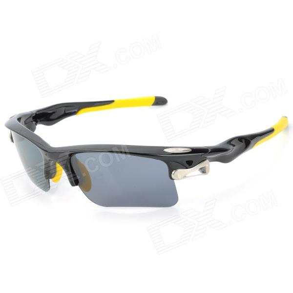 OREKA WG002 Sports Cycling Polarized PC Lens UV400 Protection Sunglasses Goggle - Black + Yellow clip on uv400 protection resin lens attachment sunglasses small