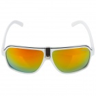 OREKA AB2991 Fashion UV 400 Protection PC Lens Sunglasses- White + Red