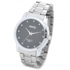 NARY 6003 Concise Stainless Steel Band Analog Quartz Men's Wrist Watch - Silver + Black (1 x 337A)