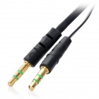 andar 3.5mm M-M Stereo Aux Car Audio Cable para IPHONE + IPOD-Preto (1m)