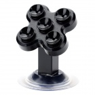 Universal 360' Rotation Car Mount Suction Cup Holder Stand for Cellphone - Black