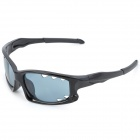 CASHIRO 077 Outdoor Riding Man's Resin Lens PC Frame UV Protection Sunglasses Goggles - Black