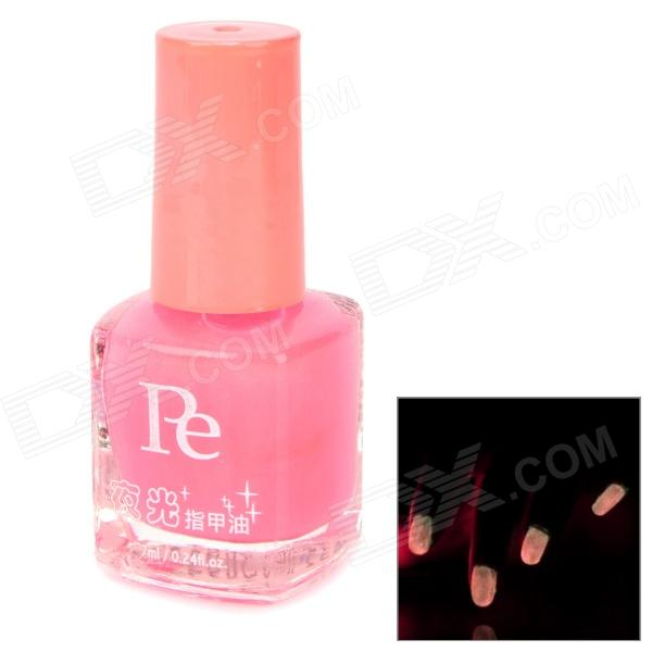 Glow-in-the-Dark Nail Polish - Pink (7ml)