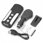 Universal Sunvisor Bluetooth V3.0 Handsfree Speakerphone for Cellphone - Black + Silver