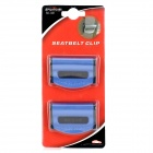 ShunWei SD-1401 Plastic Seatbelts Comfort Clips Stopper for Vehicles - Black + Blue (2 PCS)