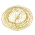 E4SF1 Foldable Steel Wire Fishing Pot Trap Net - Golden