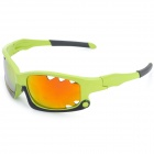CASHIRO 077 Outdoor Riding Resin Lens PC Frame UV Protection Sunglasses Goggles - Green + Black