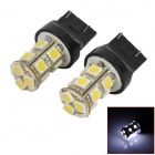 744.350-13W T20 2W 130lm 13-SMD 5050 LED White Car Steering / Brake / Tail / Backup Lights (2 PCS)