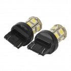 744350-13W T20 2W 130lm 13-SMD 5050 LED White Car Steering / Brake / Tail / Backup Lights (2 PCS)