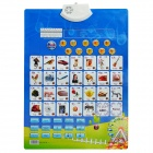 Infants Enlightenment Early Education Sound Wall Chart Voice Toy - English Style (3 x AAA)