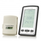 Wireless Weather Forecast Station w/ Temperature Sensor - Black + Silver