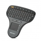 Mini Wireless 71-Keys Keyboard w/ Mouse for Touch Screen Devices - Black (2 x AAA)