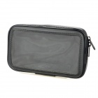 Bicycle Mount Holder w/ Water-Resistant PU Bag Case for Samsung Galaxy Note 2 N7100 + More - Black
