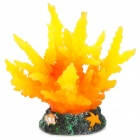 E5XY Simulation Coral for Aquarium Fish Tank - Orange Yellow