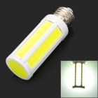 E27 7W 700lm 7000K White COB LED Light Bulb - Yellow + White