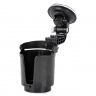 Car Water Bottle Holder w/ Suction Cup - Black