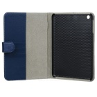 Lychee Pattern Protective PU Leather Case for Ipad MINI - Blue
