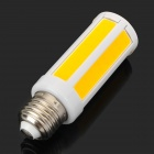 E27 7W 700lm 3200K Warm White COB LED Light Bulb - White + Orange