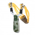 Stainless Steel Slingshot w/ Windproof Gas Lighter - Camouflage Green